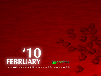 appbite wallpaper calendar february 2010