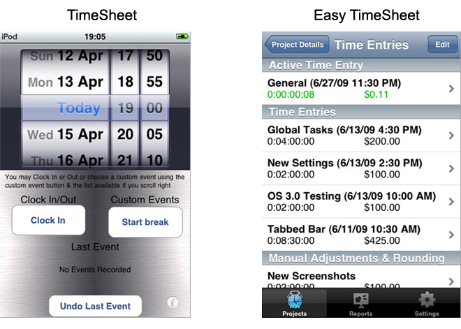 iphone-app-review-timesheets
