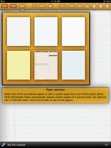Ghostwriter Notes iPad App screenshot