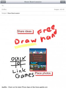Share Board Notes iPad App screenshot