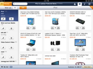 newegg-ipad-app-review-wishlist