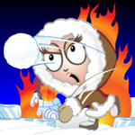 flaming igloo icon