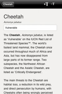 species-on-the-edge-iphone-app-review-cheetah-text