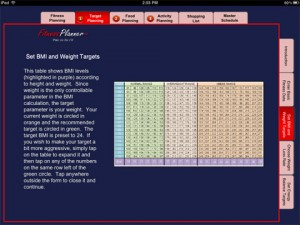 fitness-planner-ipad-app-review-target-planning