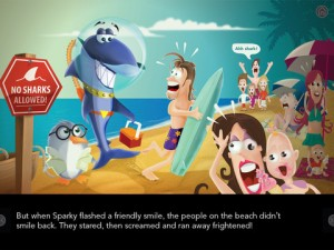 sparky-the-shark-ipad-app-review-beach
