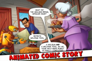 retrobot-iphone-game-review-comic-story