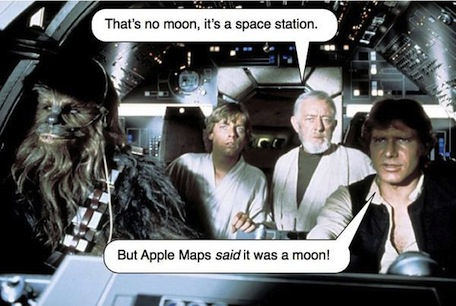 star wars apple maps
